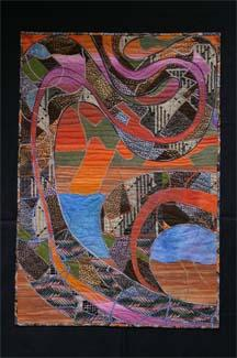"""Fabric Art 30"""" x 57"""""""