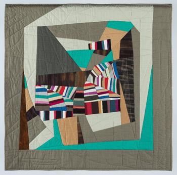 "Earthtide, 34"" X 34"", Wall Quilt, PATRICIA KILBURG"