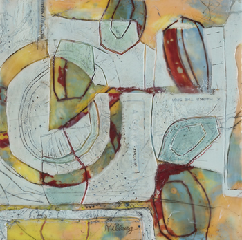 Patricia Kilburg, Rifts on a Surface, Encaustic, 12