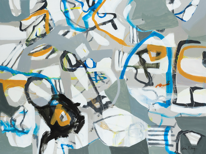 "Chance Interception, 30"" X 40"", Acrylic on Canvas, PATRICIA KILBURG"