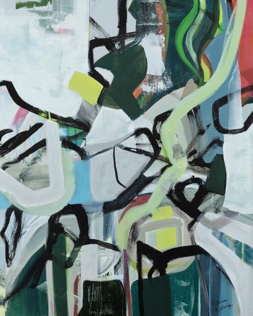 Patricia Kilburg, Jumping Down the Rabbit Hole 30x24 Acrylic on Canvas