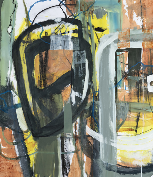 Patricia Kilburg, Deep Web, Acrylic on Paper
